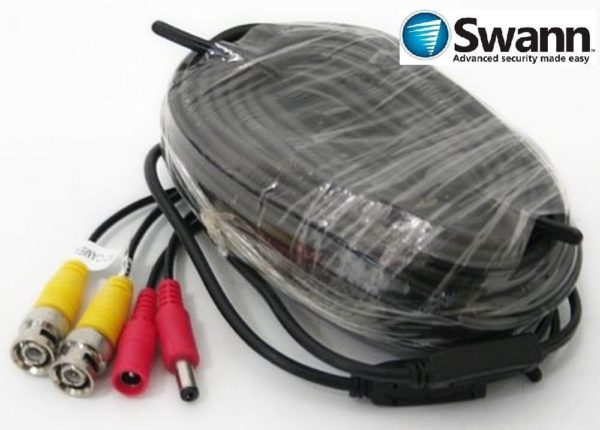 Original Swann Video & Power 60ft / 18m BNC Cable Black
