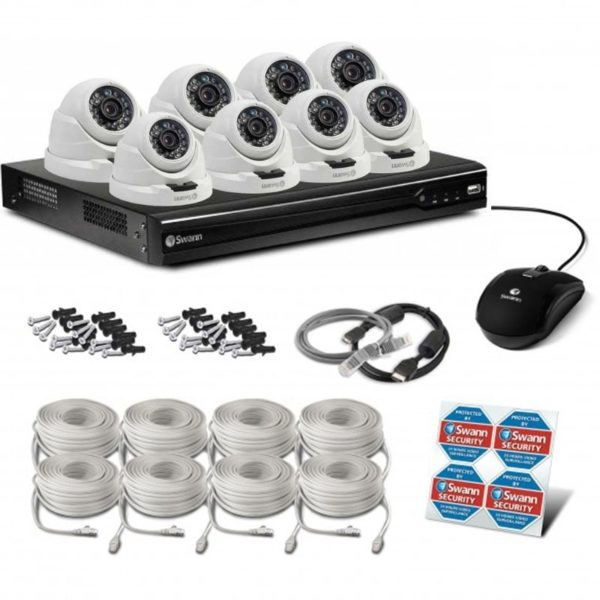 Swann NVR8-7400 8 Channel 4MP NVR & 8 x NHD-819 4MP POE IP Cameras