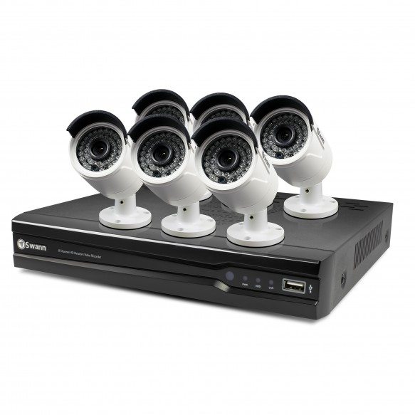 SWANN NVR8-7400 4MP 2TB Network Video Recorderwith 6x NHD-818 Cameras