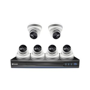 Swann SWNVK-87090 3MP NVR with 6 x SWNHD-836 3MP Dome Security Cameras